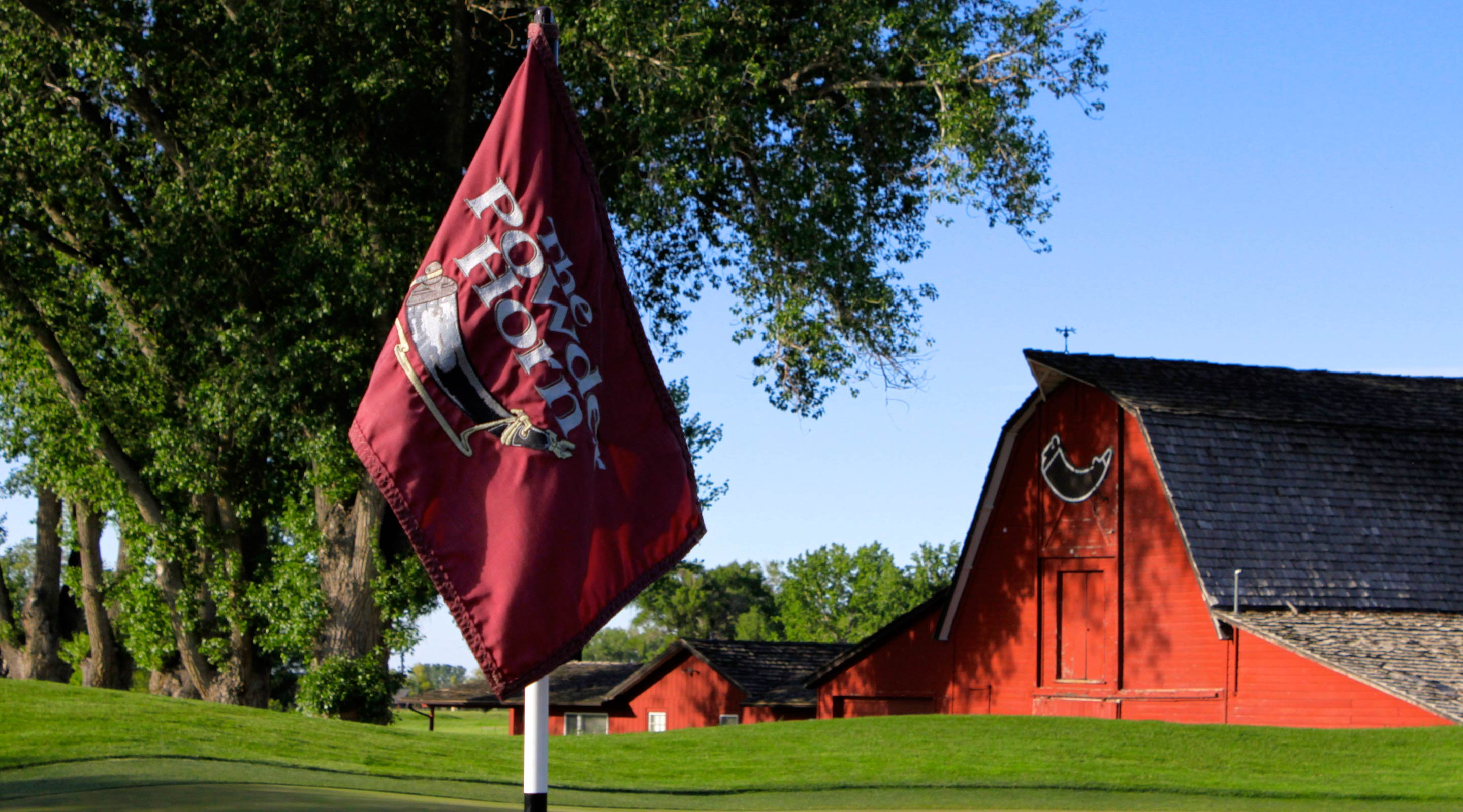 The Powder Horn barn Flag