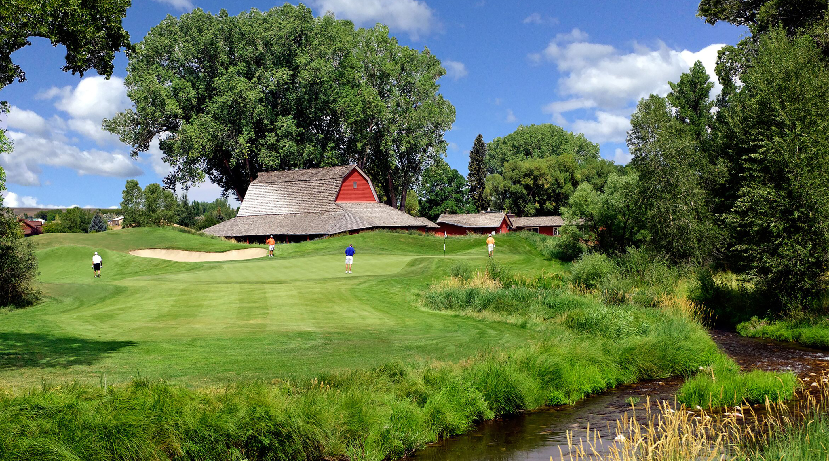 Red Golfers' Barn in Wyoming